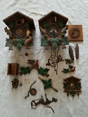 Vintage German Forestall Cuckoo Clocks ~ Spares Or Repair