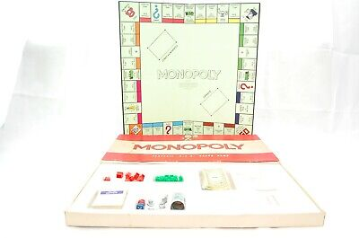 Vintage Classic MONOPOLY Board Game By Waddingtons Red Box 1961 Ed Metal Tokens