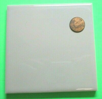"1 Wenczel Light Green Gray Porcelain Ceramic 4-1/4"" Square Wall Tile 5/16"" Thick"