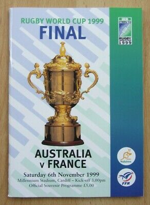 1999 Rugby World Cup Final programme - Australia v France - mint condition