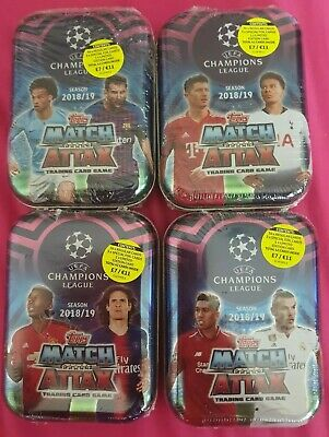 Topps Match Attax UEFA Champions League tins 2018/19