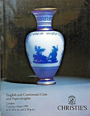 CHRISTIES Auction Catalog 6/4/1991 ENGLISH & CONTINENTAL GLASS & PAPERWEIGHTS *