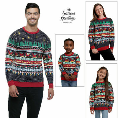 Matching Family Christmas Jumpers Womens Mens Kids Xmas Novelty Knitwear Sweater