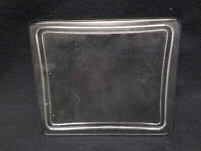 """Laboratory Glass Rectangle Staining Dish Lid 5 1/4"""" L x 4 1/2"""" W x 1/2"""" H"""