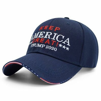 New Trump 2020 Hat Cap Stars n Stripes on Brim Keep America Great Best Quality