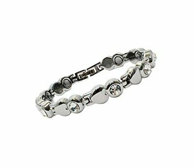 Womens Magnetic Bracelet with Clasp for Health, Healing, Arthritis, Pain Relief