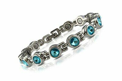 Womens Titanium Magnetic Bracelet for Health, Healing, Arthritis, Pain Relief