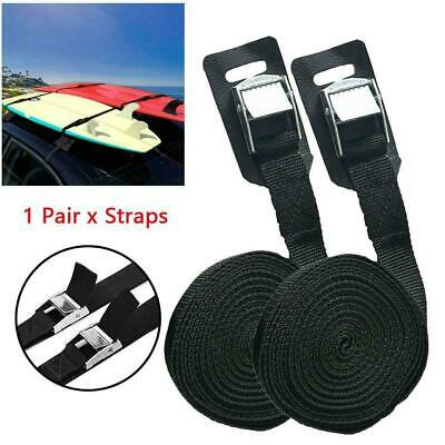 1 Pair Straps Kayak Luggage Durable Roof Rack Outdoor Tie Down Surf P3I2K