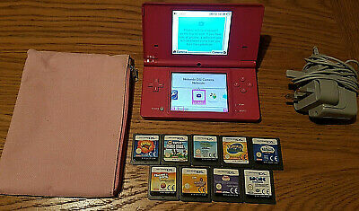 Nintendo DSi Style Boutique Pink Handheld System Complete with 9 Games Pokemon
