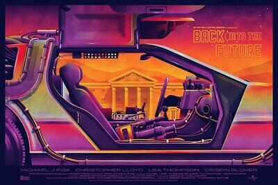 Back to the Future Movie Mondo DKNG Foil Variant Print Poster Art