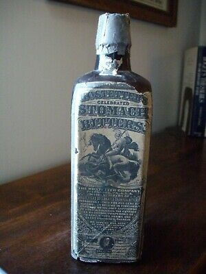 Hostetter's Bitters bottle with nice labels & facsimile revenue stamp over neck