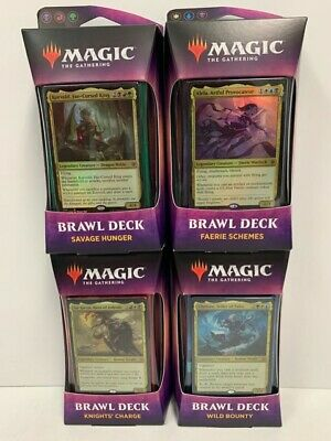 MTG Magic The Gathering SET OF 4 Throne of Eldraine BRAWL DECKS - Factory Sealed