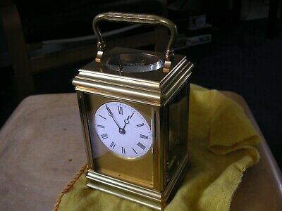 Antique Drocourt Striking Repeater Double Corniche Carriage Clock