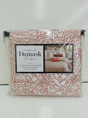 Charter Club 300 Tc Damask Designs Paisley Twin Duvet Cover
