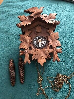 Vintage Clock - Wooden Cuckoo Bird Clock 🕰 For Spares Or Repair