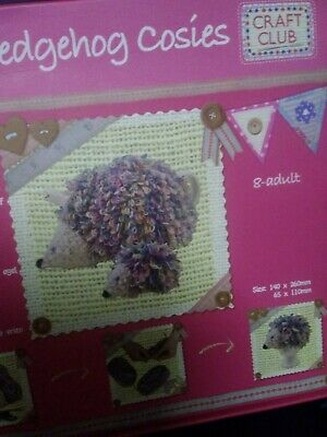 Toy knitting kits hedgehog cosies