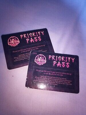 Alton Towers Wickerman FAST TRACK Priority Pass FAST POSTAGE