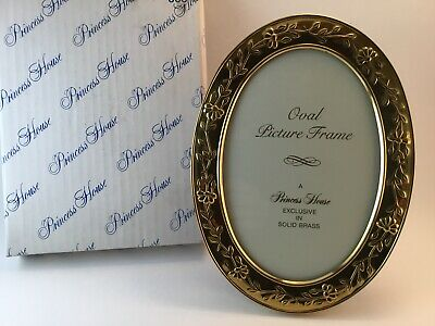 Princess House Oval Picture Frame Solid Brass ##360 EUC