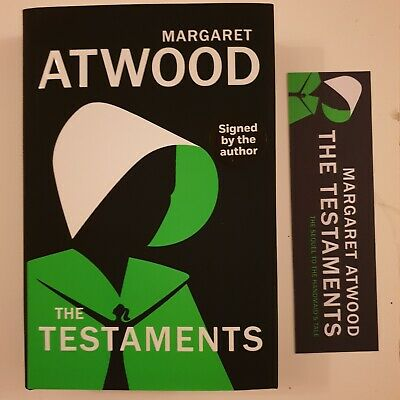 The Testaments, Signed By Margaret Atwood,1st/1st With Bookmark