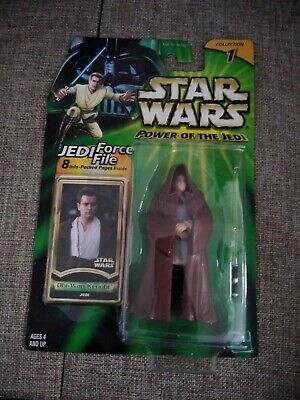 Star Wars POTJ Obi-Wan Kenobi Jedi w/ Force File, Hasbro