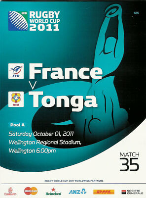 9834 - Rugby World Cup 2011 RWC - France v Tonga Programme 01/10/2011