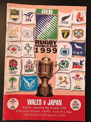 9610 - Rugby World Cup 1999 RWC - Wales v Japan Programme 09/10/1999
