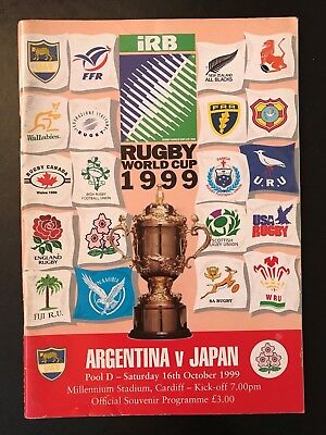 9624 - Rugby World Cup 1999 RWC - Argentina v Japan Programme 16/10/1999