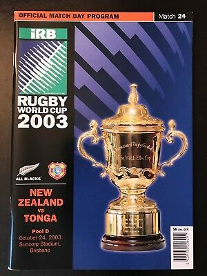 9669 - Rugby World Cup 2003 RWC - New Zealand v Tonga Programme 24/10/2003