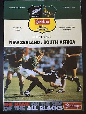 3226 New Zealand v SOUTH AFRICA 1994 Rugby Programme 9th July All Blacks 09/07