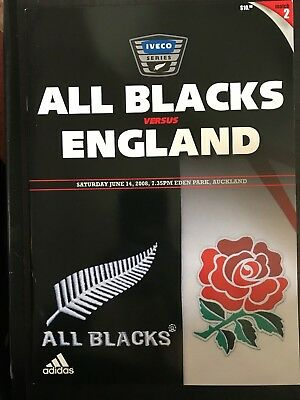 3110 - New Zealand v ENGLAND 2008 Rugby Programme 14th June All Blacks 14/06