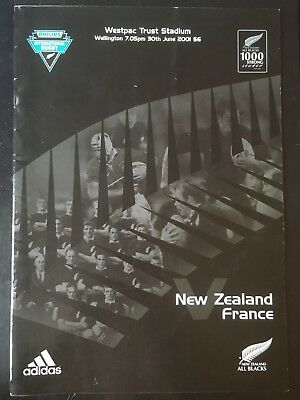 3146 - New Zealand v FRANCE 2001 Rugby Programme 30th June All Blacks 30/06/2001