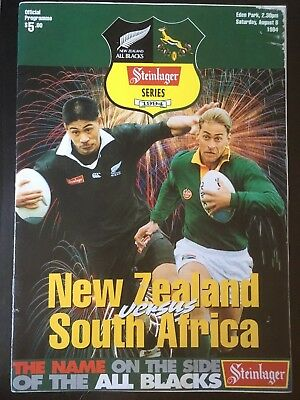 3228 - New Zealand v SOUTH AFRICA 1994 Rugby Programme 6th Aug All Blacks 06/08