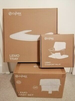 Brand New Cybex Lemo Baby Set Porcelain White With Tray And Inlay