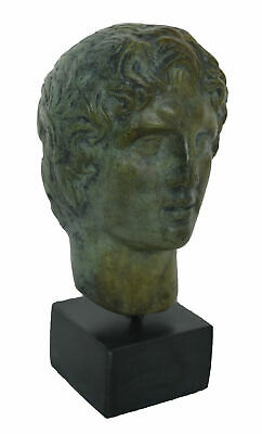 Alexander the Great Macedonian small Bronze Bust - King Of Vergina - Alexandros