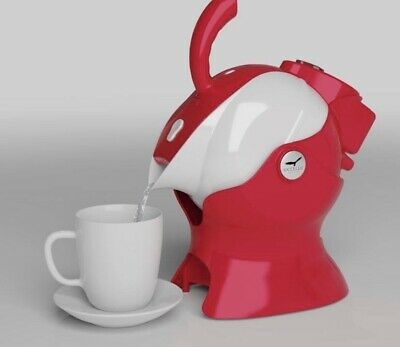 Red & White Easy Pour Electric Uccello Kettle & Tipper