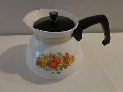 Vintage 1971 Corning Bantry 6 Cup Tea Pot Garden of Tea Pot Series Excellent