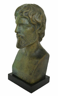 Democritus Bronze Bust - The Father of Atomic Theory - Ancient Greek Philosopher