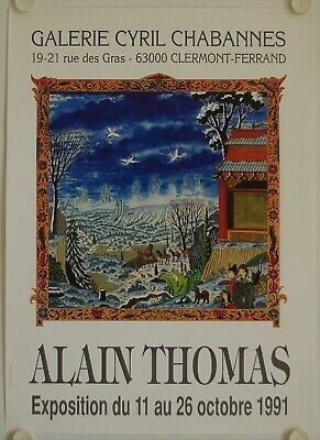 Affiche ALAIN THOMAS 1991 Exposition Galerie Cyril Chabannes