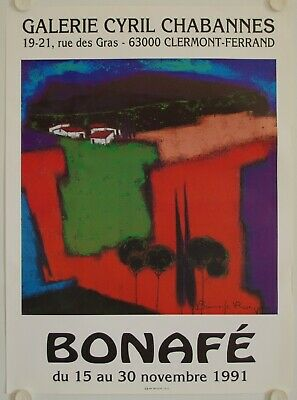 Affiche BONAFE 1991 Exposition Galerie Cyril Chabannes