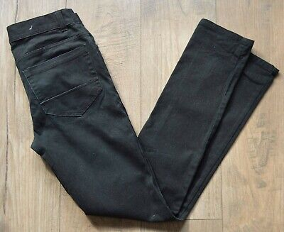 "Mens / Boys Black Denim Co Skinny / Slim Fit zip Fly Jeans Size W28"" L31.5""."