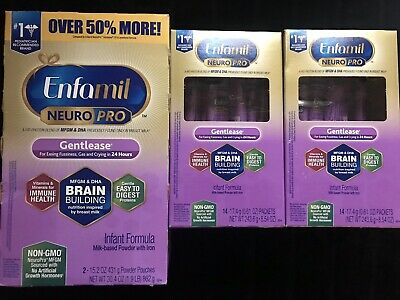 3 Enfamil NeuroPro Gentlease Infant Formula 1-30.4oz E 6/21 2-14x.61 Pack E 6/20