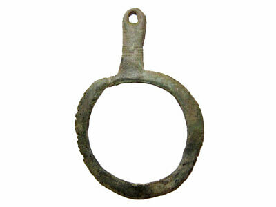 EXTREMELY RARE BRONZE AGE RING AMULET BRONZE PENDANT +++As Found!!!