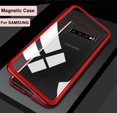 Samsung S8 S9 S10 S10+ NOTE8 NOTE 9 Magnetic Tempered Glass Protector Case Cover