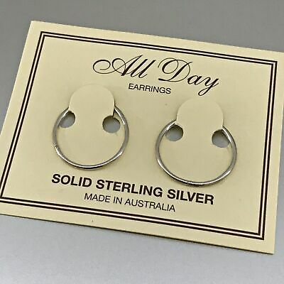 Sterling Silver 18mm Sleepers  — AUS Postage — Jewellery Sterling 925 Earrings