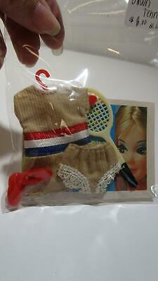 Vintage Dawn doll fashion Tennis outfit with racket shoes, panties and booklet