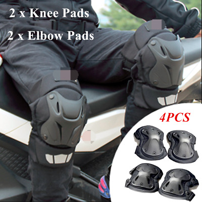 4PC Unisex Motorcycle Tactical Knee and Elbow Pads Guard Equipment Riding Motion
