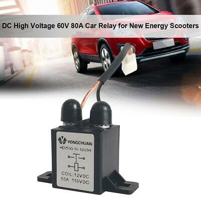 Heavy Duty DC High Voltage 60V 80A Car Relay for New Energy Scooters Universal