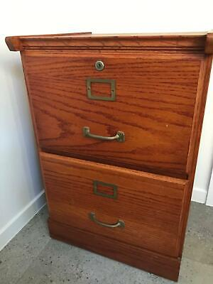 Filing Cabinet, stained wooden 2 Drawer. Perfect Condition