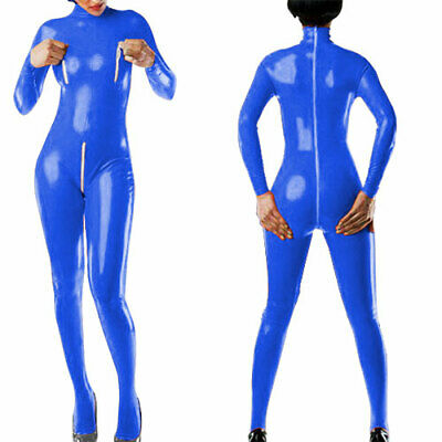 Hot Sale Latex Catsuit Latexanzug Rubber Gummi Dunkelblau Bodysuit Fixed Size XL