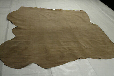 Camel Brown Suede Calfskin Remnant Soft calf leather 80 x 75 cm  | GREAT VALUE!